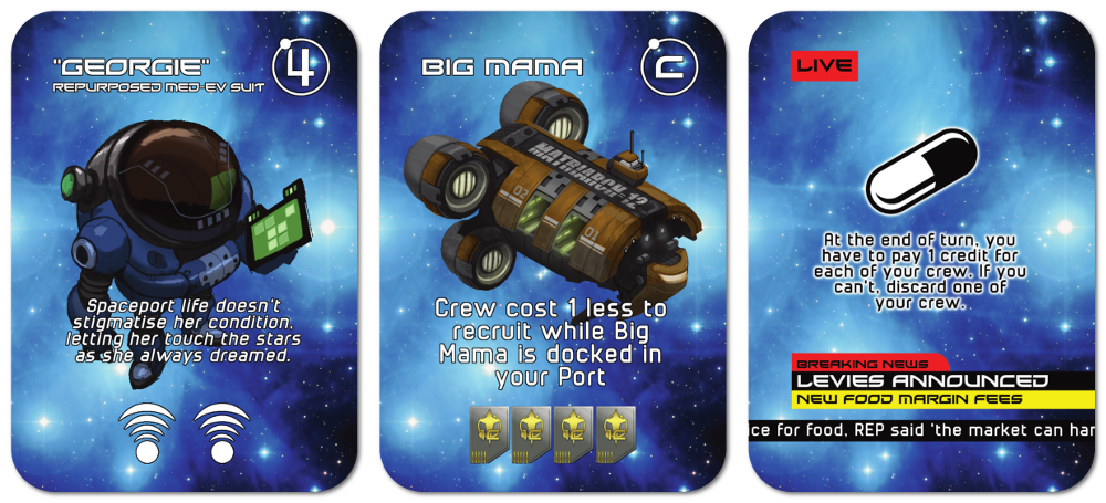 Sector 86 Card Previews