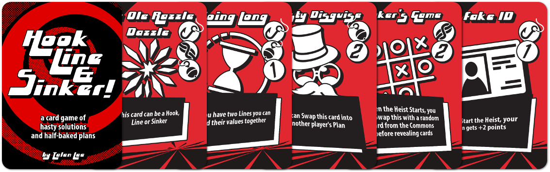A series of cards from Hook, Line and Sinker